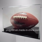 Wholesale Full-Size Football Display Case with Black Acrylic Base