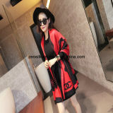 Acrylic Fashion Red Woven Scarf