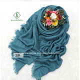 Large Size Shawl Herringbone Plain Cotton Lady Fashion Scarf