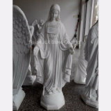 Chinese White Marble St. Mary Sculpture