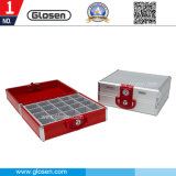 B8208 20 Compartments Metal Office Seal Storage Box with Lock