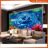 Wholesale Lovely Dolphin Oil Painting by Number on Canvas for Children Room