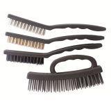 4PC Plastic Handle Wire Brush Kit