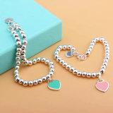 Popular Fashion Jewelry Stainless Steel Heart Shaped Bead Bracelet