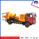 Truck Mounted Drum Style Concrete Mixing Pump with Batcher and Chassis