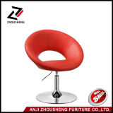 PU Leather Swivel Adjustable Red Color Leisure Chair Zs-603b