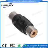 Nickel Plated CCTV Female RCA to RCA Audio Connector (CT5031)