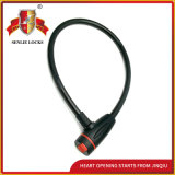 Jq8207 Durable Bicycle Lock Motorcycle Steel Cable Lock with Pvu