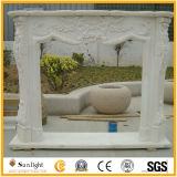 Europe Style Sandstone/White Marble/Travertine Sculpture Fireplace for Home Decorations