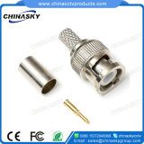Crimp Male CCTV BNC Connector for Coaxial Cable (CT5045)