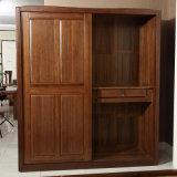 Antique Painting Custom Solid Walnut Wood Bedroom Wardrobe (GSP9-007)