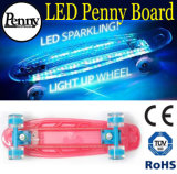 LED Light Plastic Penny & Nickel Board Skateboard