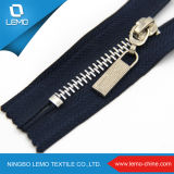 4# Metal Nickel Big Teeth Zipper Price, Big Zipper for Garments