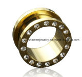 Body Piercing Jewelry Steel Gold Flesh Tunnel Plug