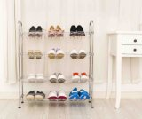 China Supplier Best Price Chrome Plated Metal Shoe Rack Cabinet for Home Use