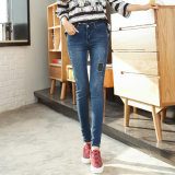 Factory Stock Lady Fashion Legging Denim High Waist Jeans