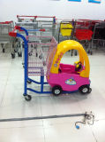 Modern Design Shopping Trolley with Child Toy Car