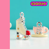 Metal Colorful Roller Skates Charm / Trendy Speed Boot Charms