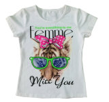 Short Sleeve Lovely Kids T- Shirt Girl T-Shirt in Children Clohtes Sgt-051