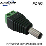 CCTV Male DC Power Jack with Screw Terminal (PC102)