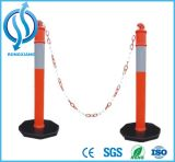 PE Warning Post with Rubber Base for Roadway Traffic Safety
