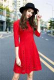 Ladies New 3/4 Sleeve Cutout Fashion Dress