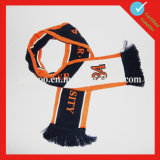 Wholesale Custom Knit Acrylic Soccer Scarf