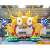 Lovely Smiling Face Inflatable Arch/Sports Inflatable Arch for Rally Racing