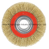 10'' Brass Coated Steel Wire Cup Brush