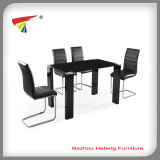 Modern Fashional Glass Metal Dining Table Set (DT062)