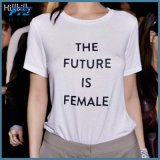 Women Printing Fashion T-Shirt with Round Neck Good Quality