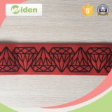 High Quality Elastic Cloth Tape with Black Diamond Patterns