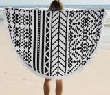 2016 Hot Sale Cotton Round Beach Towel with Tassels