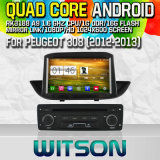 Witson S160 for Peugeot 308 (2012-2013) Car DVD GPS Player with Rk3188 Quad Core HD 1024X600 Screen16GB Flash 1080P WiFi 3G Front DVR DVB-T Mirror-Link(W2-M190)
