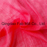 Red 100%Ramie Fabric Crepe Fabric (QF16-2526)