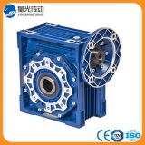 RV075 Blue Aluminum Worm Reduction Gearbox Geared Motor