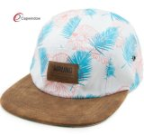 Camper Floral Material Leather Patch Outdoor Hats (07029)