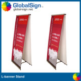L Banner Stands with Double Sides Graphics Printed