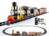 Hot Sale Electric Plastic Slot Train Toy with Light