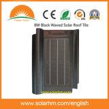 8W Black Waved Solar Roof Tile