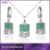 Hot Sale Round Stone Design Fashion Cubic Zircon Jewelry Sets