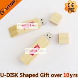Promotional Gifts Silkscreen Custom Logo Wood USB Pendrive (YT-8118)