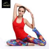 Colorful Young Girl Printed Sports Yoga Wear Legging Yoga Pants