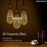 2017 New Product Colorful ST64 E27 3D LED Firework Light