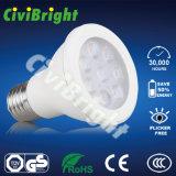7W LED Lamp CREE Chips PMMA Lens LED PAR Light