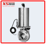 Stainless Steel Food Grade Butterfly Valve C - C with Vertical Air Drive