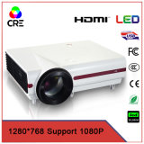 Support 1080P High Brightness LCD Home Cinema Projector