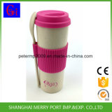Custom Color Avaliable Plant Fiber Tea Cup with Silicone Lid and Silicone Sleeves