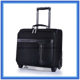 "Classical Black 16"" Business Trip Trolley Case, Durable Nylon Travel Luggage Bag, Outdoor Suitcase with Wheels"