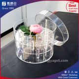 2018 High Transparent Rounded Acrylic Flower Display Boxes